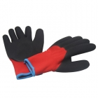 Palm black foam Latex coated red liner Gloves