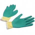 Polyester Liner With Crinkled Latex Coating Gloves